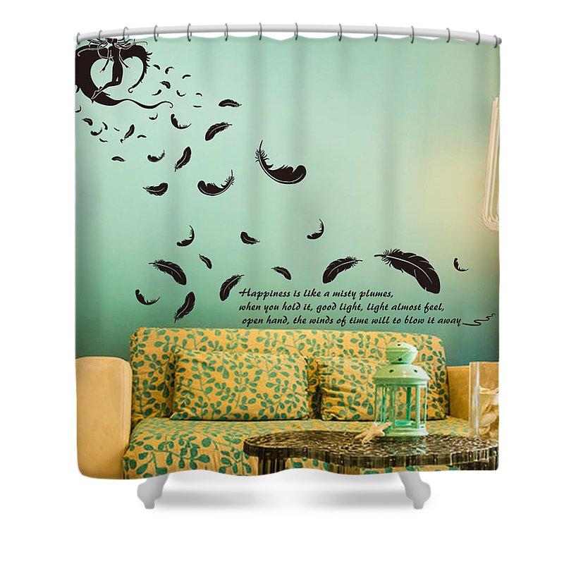 Shower Curtain featuring the digital art Wall art by Wild
