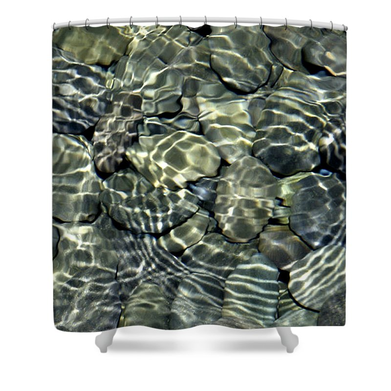Water Shower Curtain featuring the photograph Water Rocks 2 by Andre Aleksis