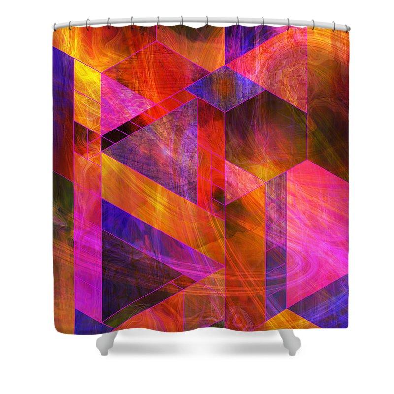 Wild Fire Shower Curtain featuring the digital art Wild Fire by John Robert Beck
