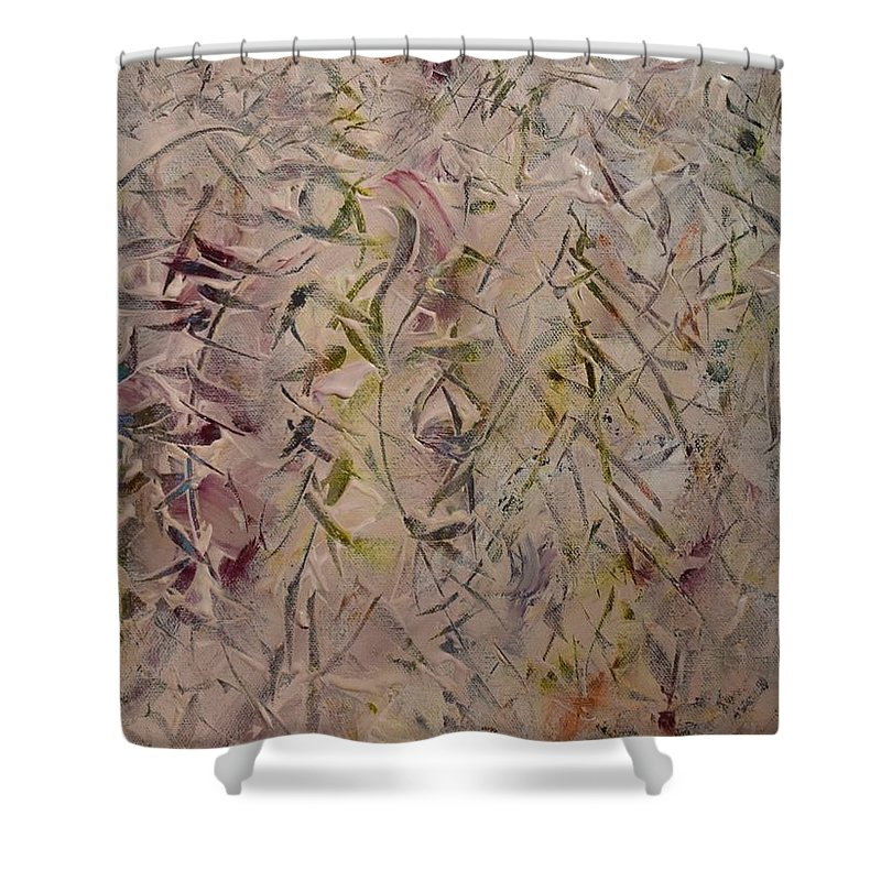 Light Shower Curtain featuring the painting Winter Light by Pam Roth O'Mara