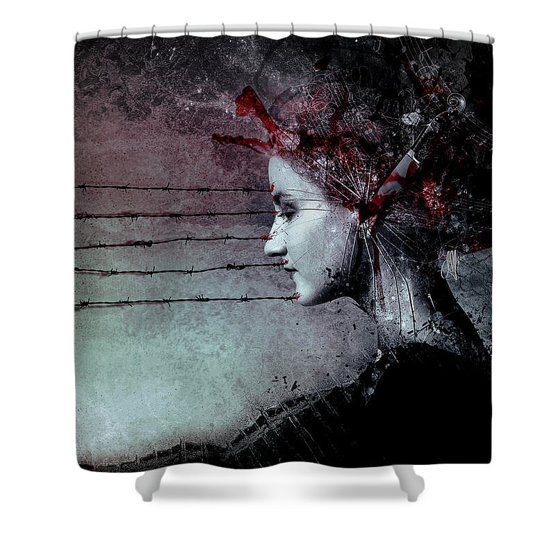 Barbwire Shower Curtains