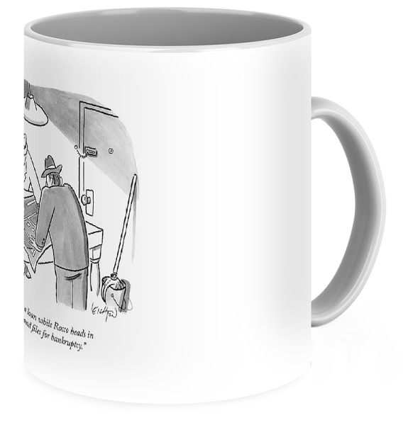 Mobsters examine a blueprint coffee mug for sale by robert leighton left view malvernweather Images