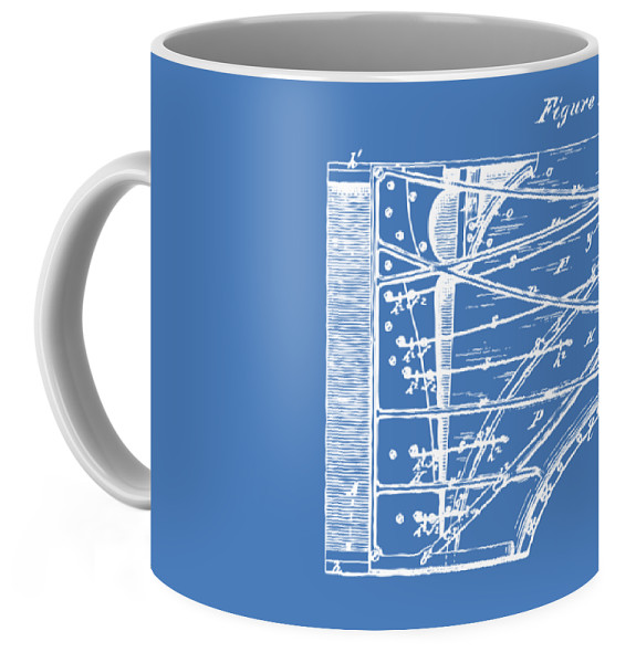 1880 steinway piano forte patent blueprint coffee mug for sale by right view malvernweather Choice Image