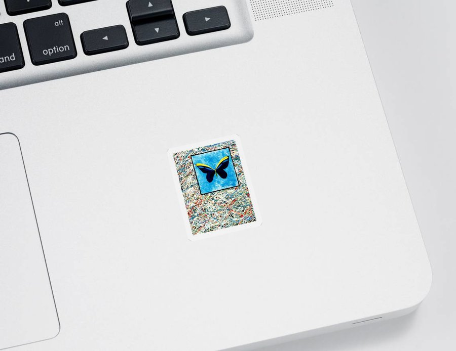 Abstract Sticker featuring the painting Imperfect II by Micah Guenther