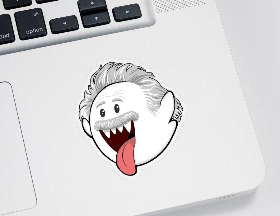 Boo Sticker featuring the digital art Boo-Stein by Olga Shvartsur