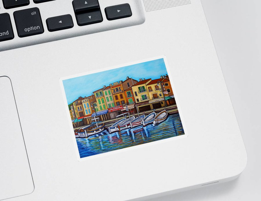 Cassis Sticker featuring the painting Colours of Cassis by Lisa Lorenz