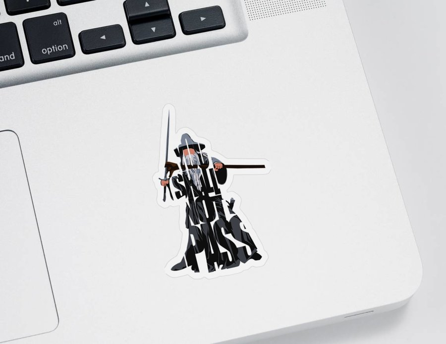 The Lord Of The Rings Sticker featuring the painting Gandalf - The Lord of the Rings by Inspirowl Design