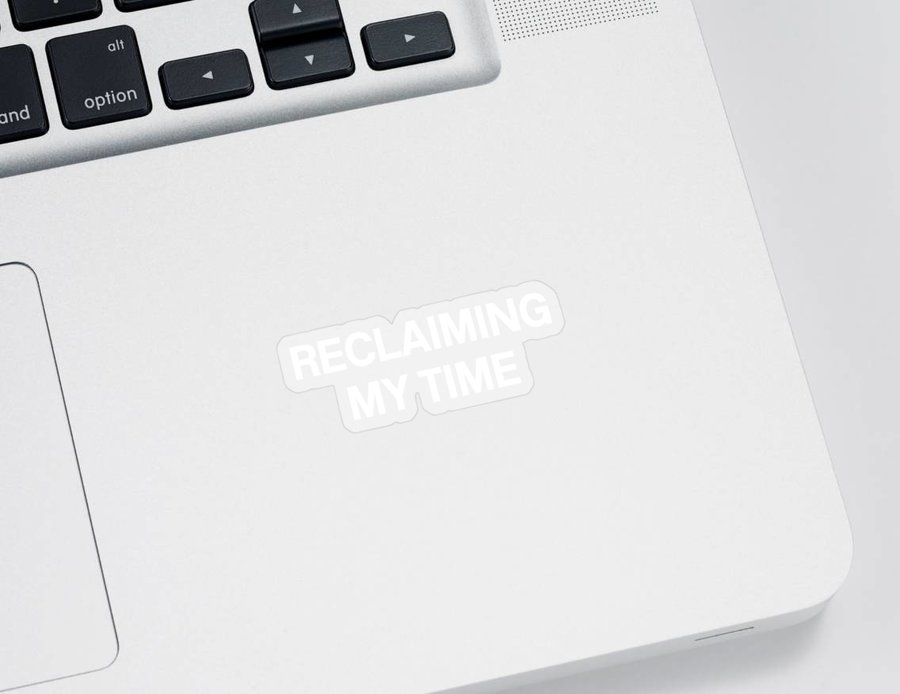 Reclaiming My Time Sticker featuring the digital art Reclaiming My Time- Art by Linda Woods by Linda Woods