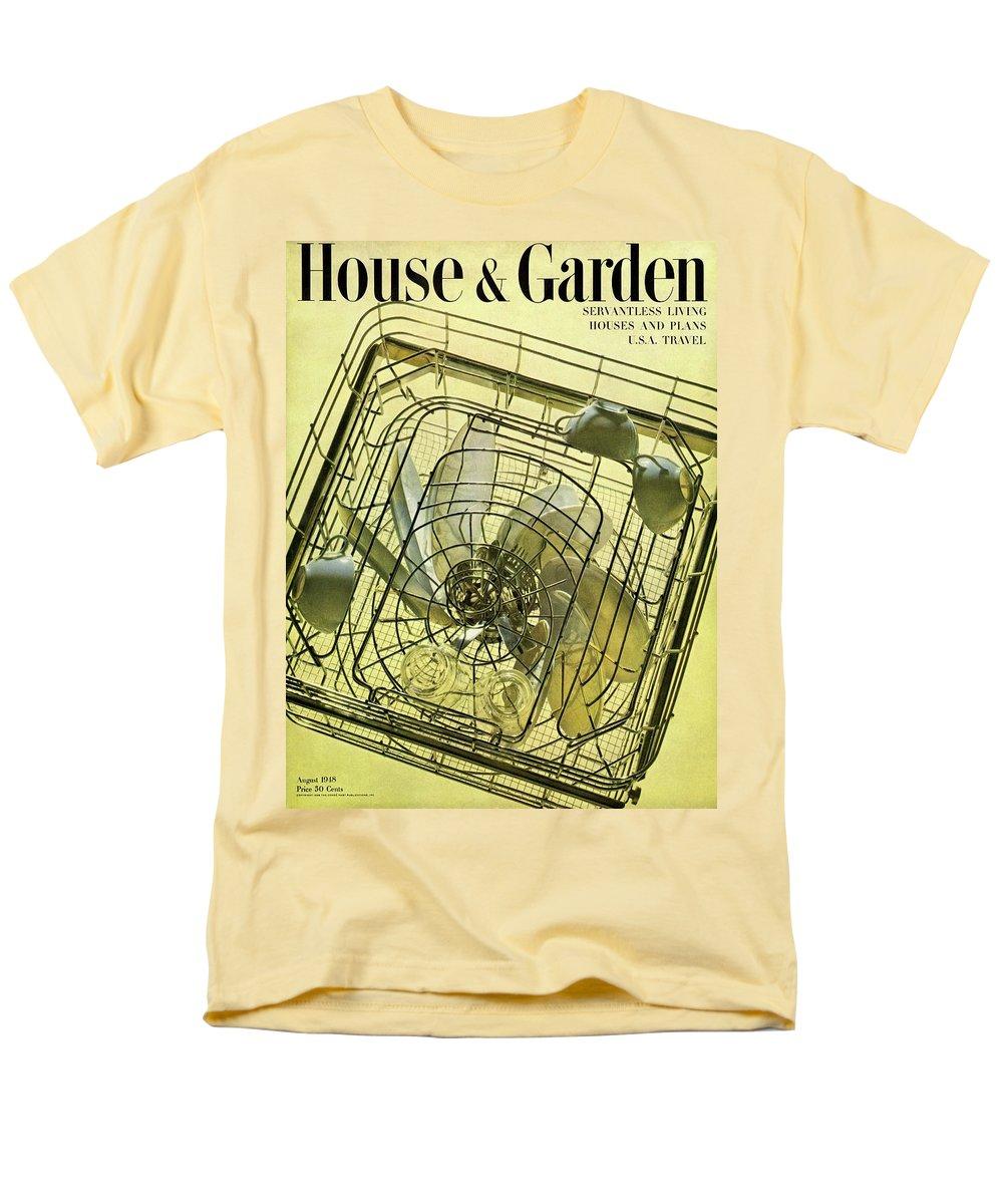 House And Garden Men's T-Shirt (Regular Fit) featuring the photograph House And Garden Servant Less Living Houses Cover by Herbert Matter