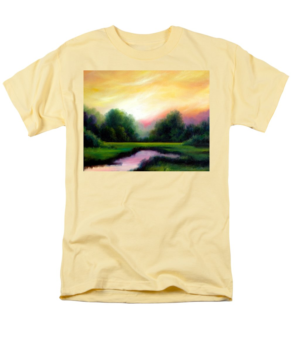 Clouds Men's T-Shirt (Regular Fit) featuring the painting A Spring Evening by James Christopher Hill