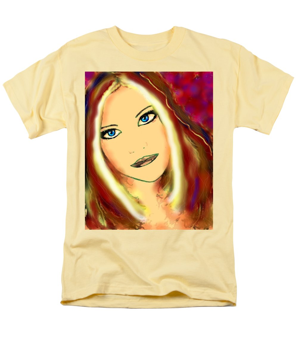 Woman Men's T-Shirt (Regular Fit) featuring the painting Blue Eyes by Natalie Holland