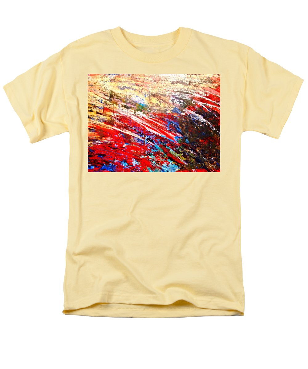 Expressionism Men's T-Shirt (Regular Fit) featuring the painting Emotional Explosion by Natalie Holland