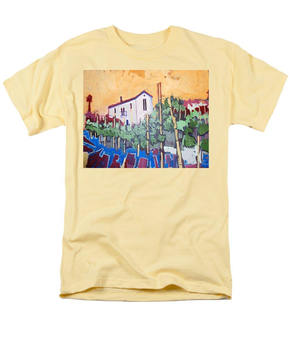 Farm House Men's T-Shirt (Regular Fit) featuring the painting Farm House by Kurt Hausmann