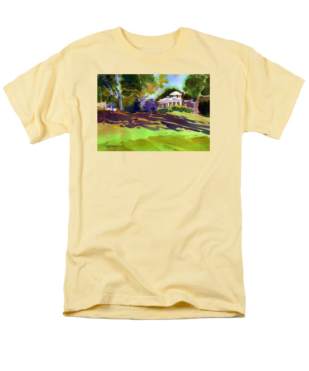 Thomas Jefferson Men's T-Shirt (Regular Fit) featuring the painting Monticello in October by Lee Klingenberg