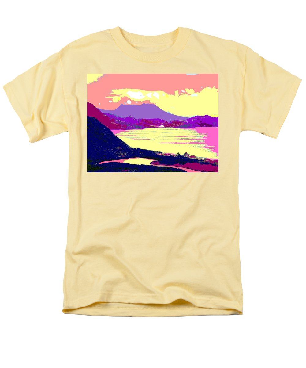 Nevis Men's T-Shirt (Regular Fit) featuring the photograph Nevis From the Penninsula by Ian MacDonald
