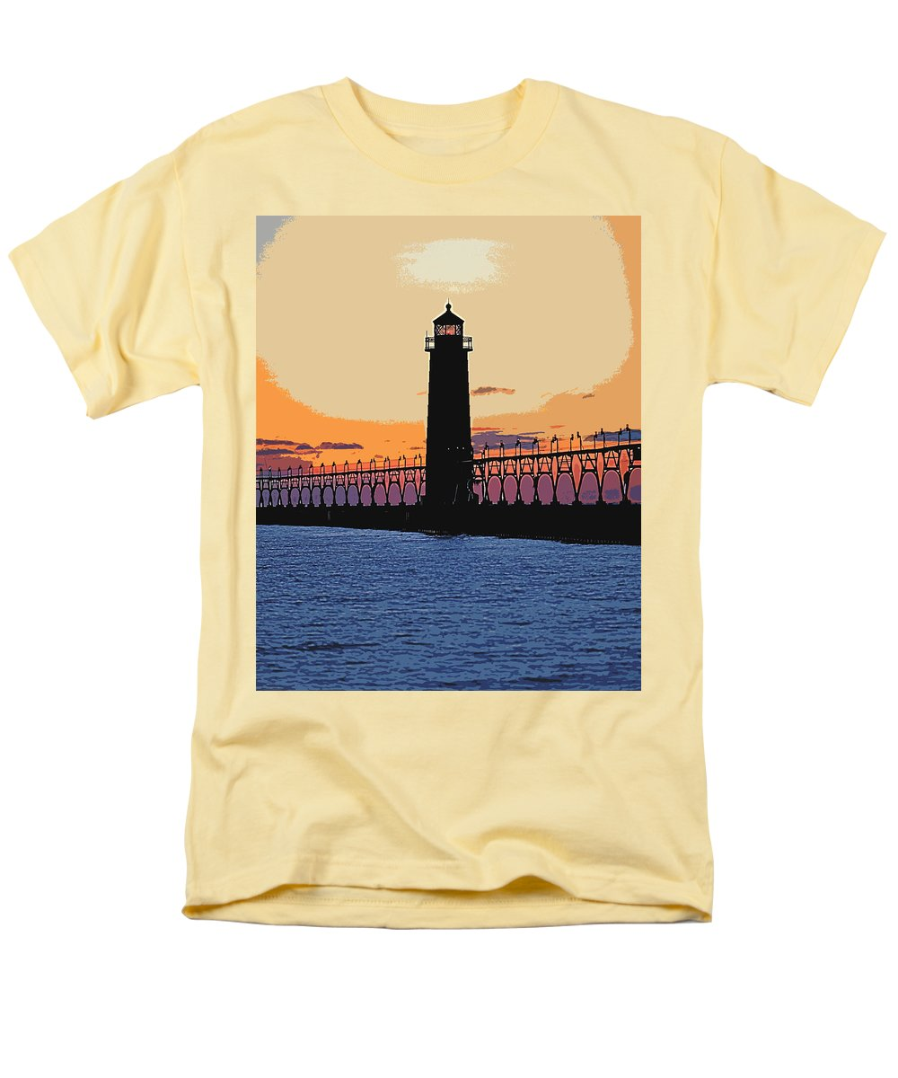 Light House Men's T-Shirt (Regular Fit) featuring the photograph Standing Sure by Robert Pearson
