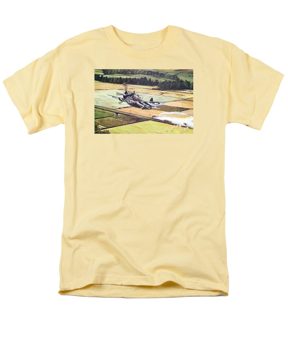 Military Men's T-Shirt (Regular Fit) featuring the painting Target Of Opportunity by Marc Stewart