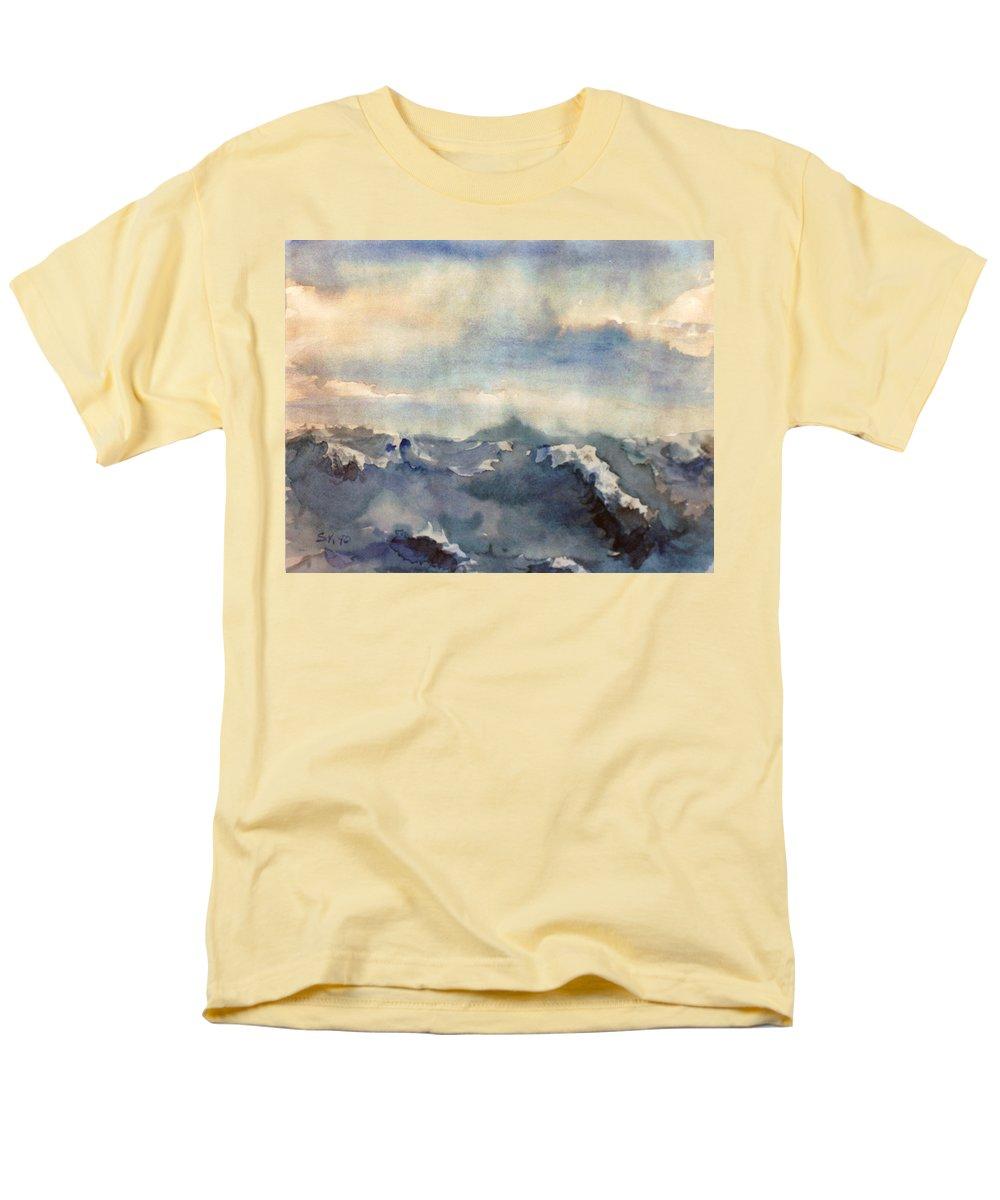Seascape Men's T-Shirt (Regular Fit) featuring the painting Where Sky Meets Ocean by Steve Karol