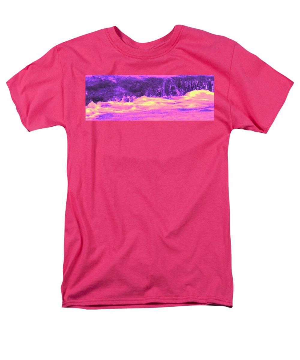 Seascape Men's T-Shirt (Regular Fit) featuring the photograph Pink Tidal Pool by Ian MacDonald
