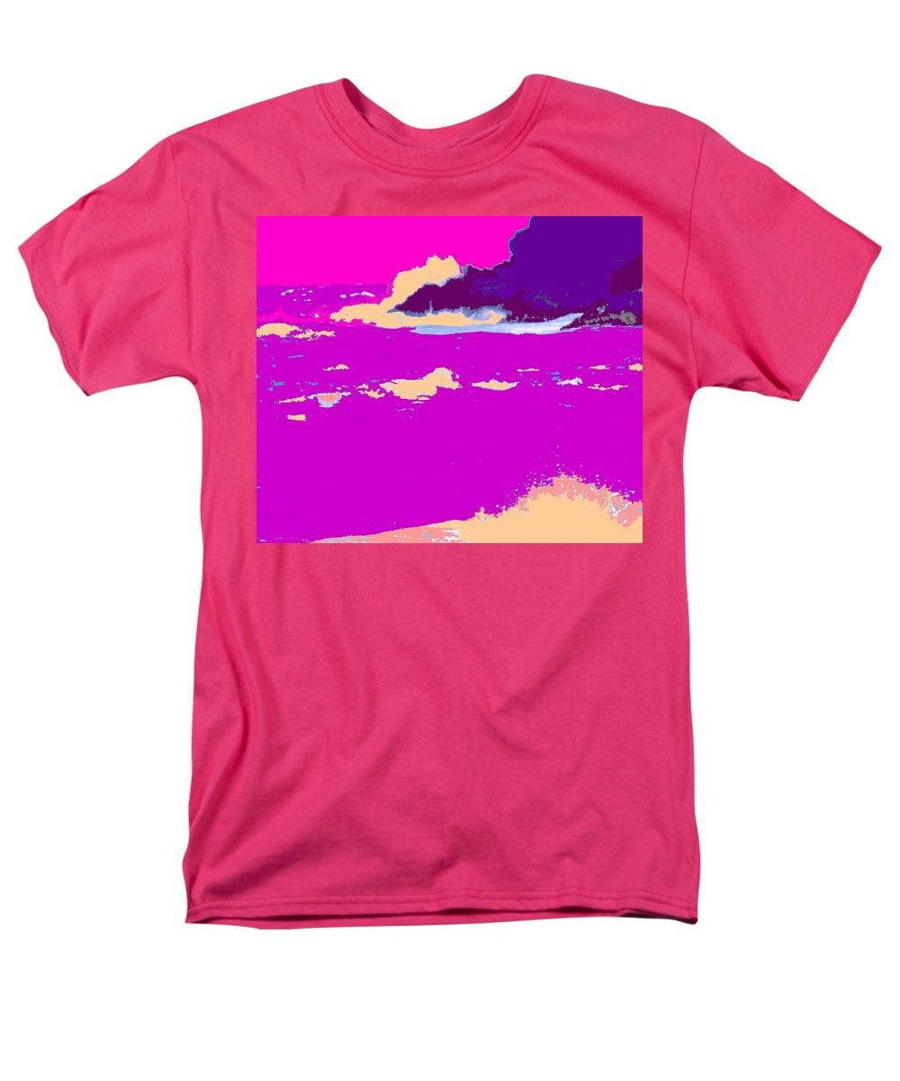 Waves Men's T-Shirt (Regular Fit) featuring the photograph Purple Crashing Waves by Ian MacDonald