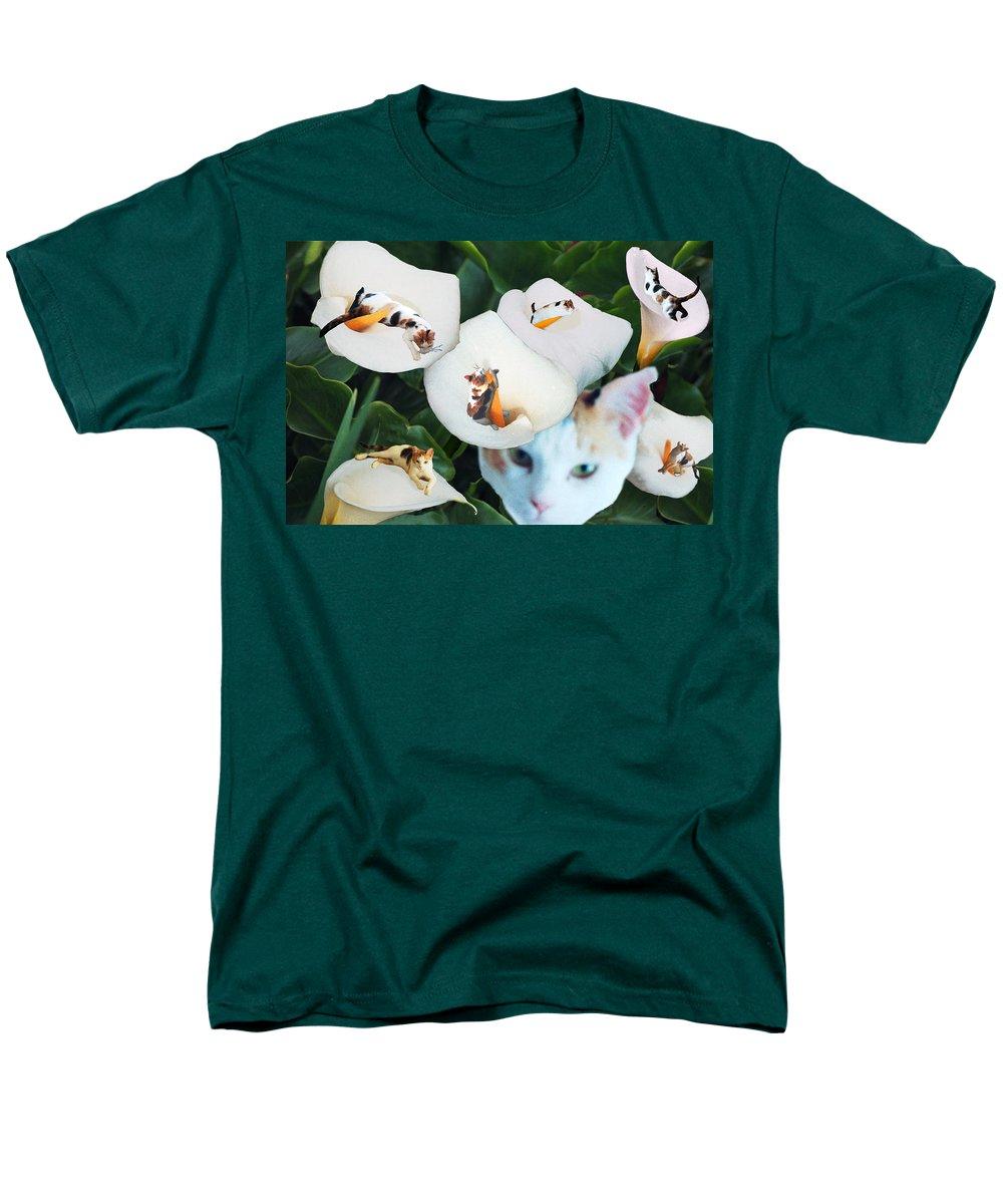 Cat Men's T-Shirt (Regular Fit) featuring the digital art Cala in Callas by Lisa Yount