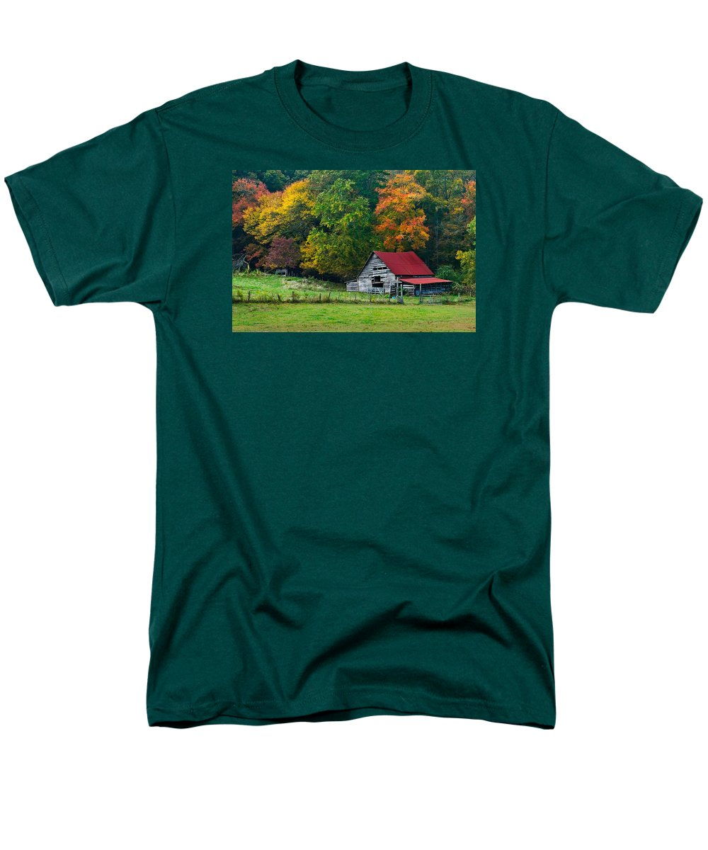 Appalachia Men's T-Shirt (Regular Fit) featuring the photograph Candy Mountain by Debra and Dave Vanderlaan