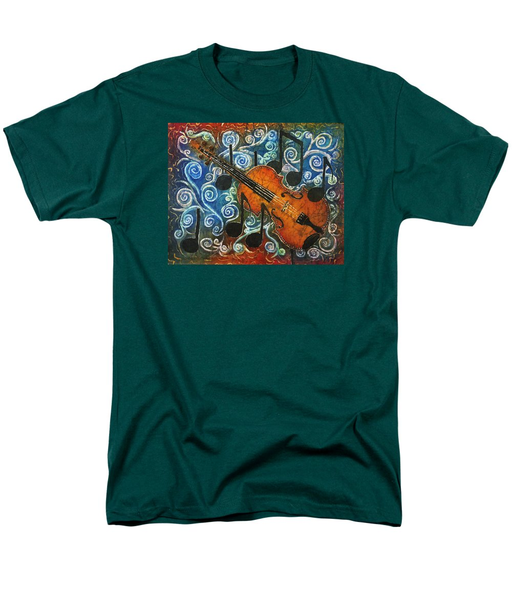 Fiddle Men's T-Shirt (Regular Fit) featuring the painting Fiddle 1 by Sue Duda