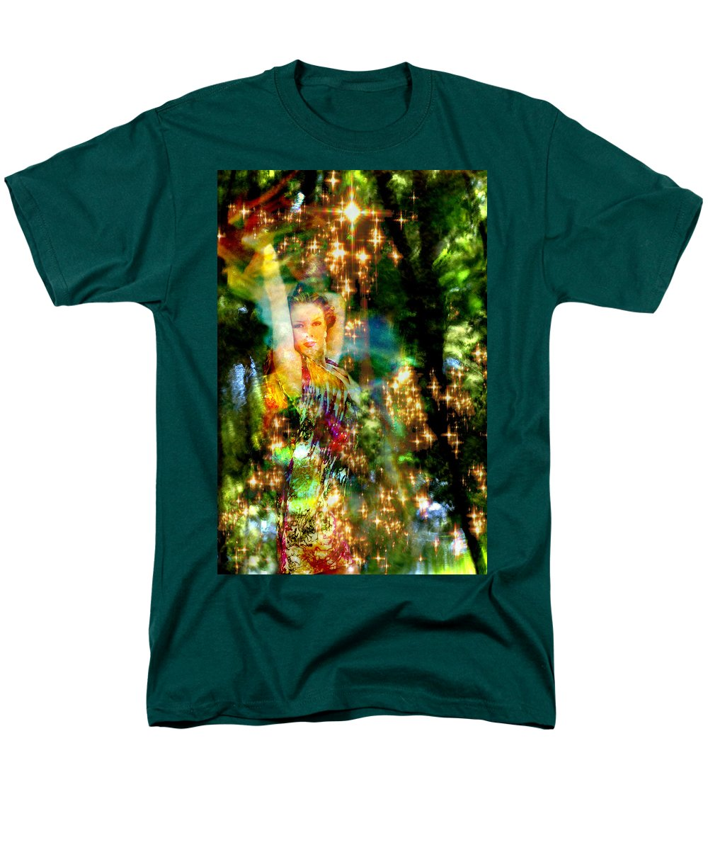 Forest Men's T-Shirt (Regular Fit) featuring the digital art Forest Goddess 4 by Lisa Yount