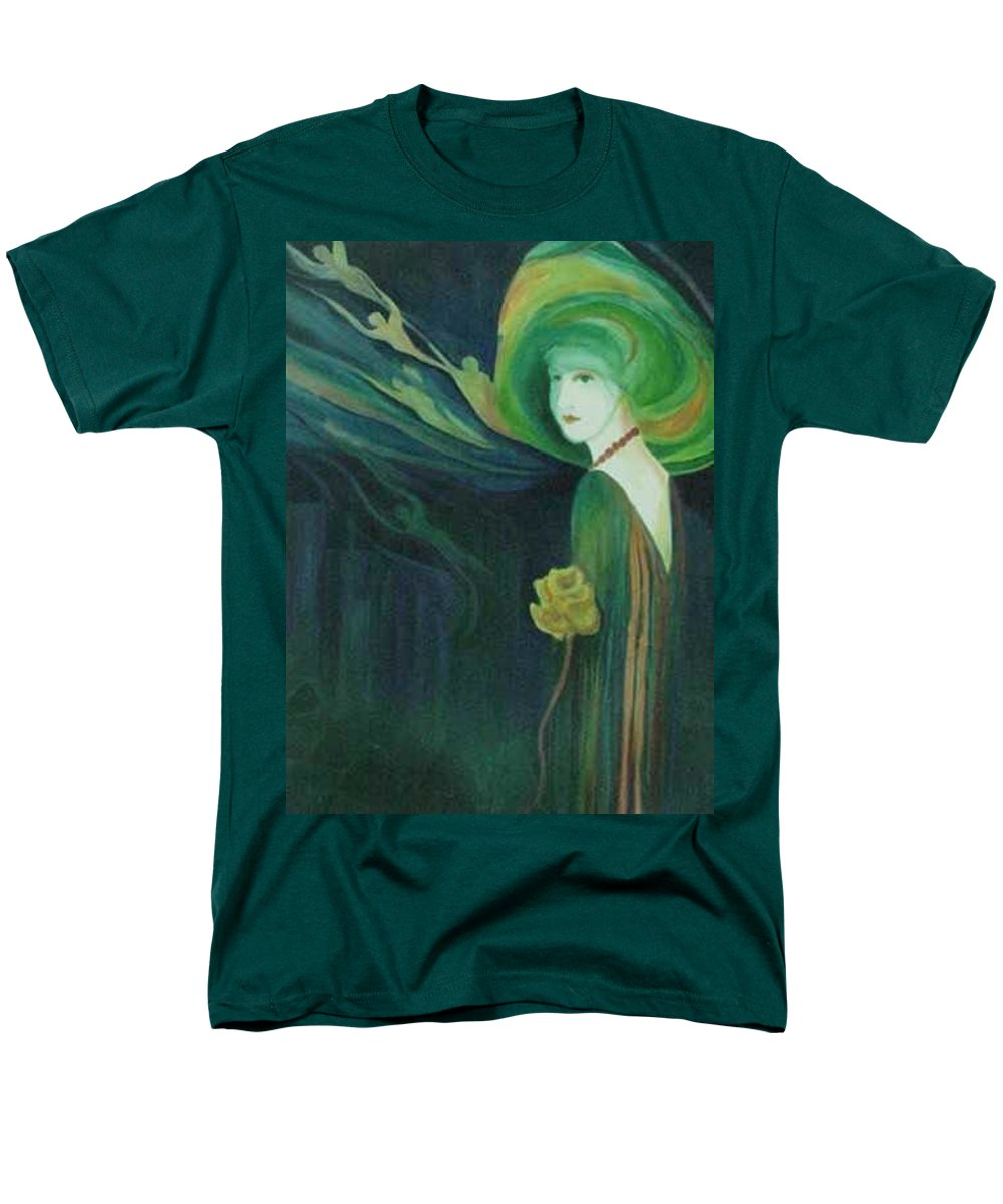 Women Men's T-Shirt (Regular Fit) featuring the painting My Haunted Past by Carolyn LeGrand