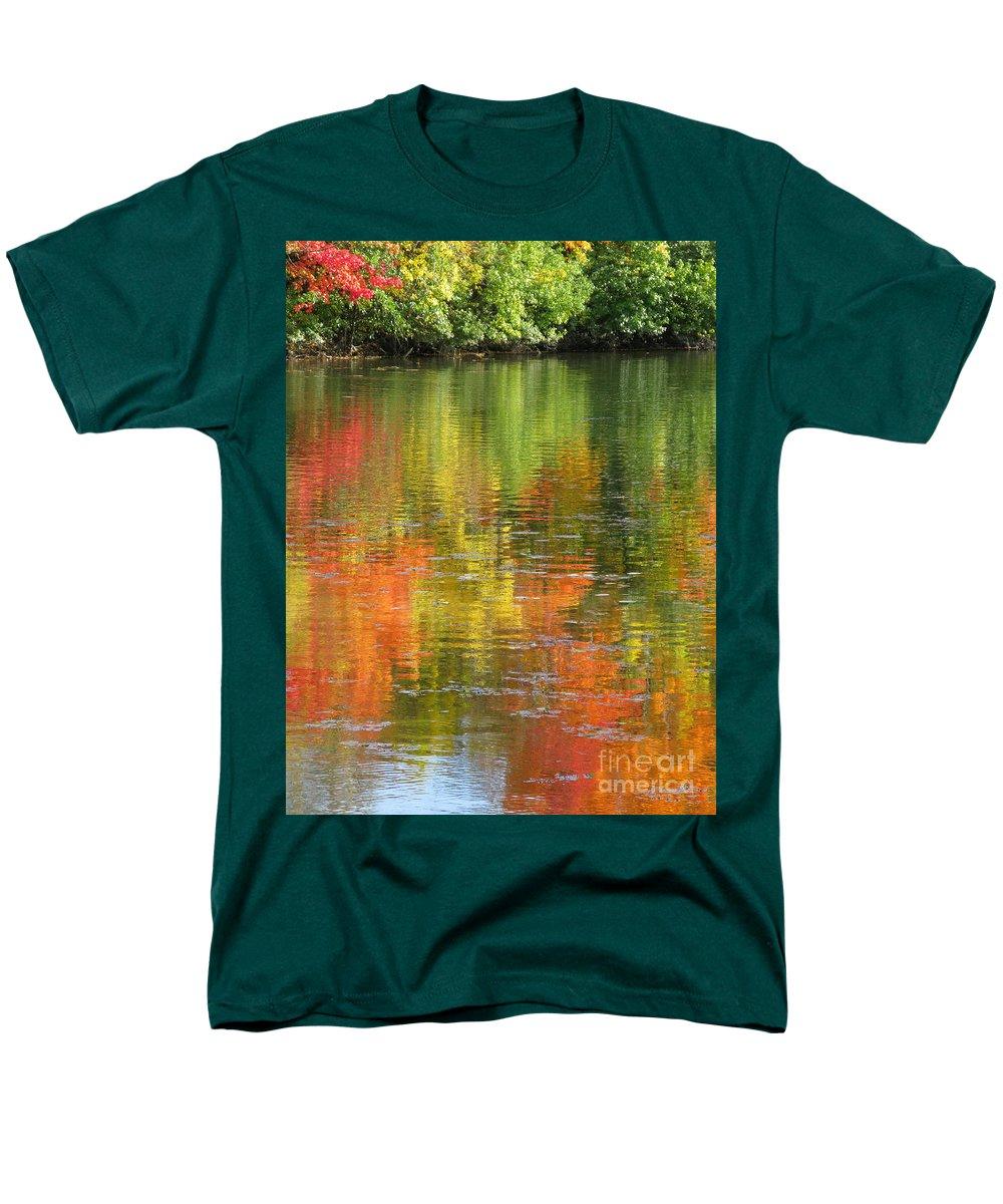 Autumn Men's T-Shirt (Regular Fit) featuring the photograph Water Colors by Ann Horn