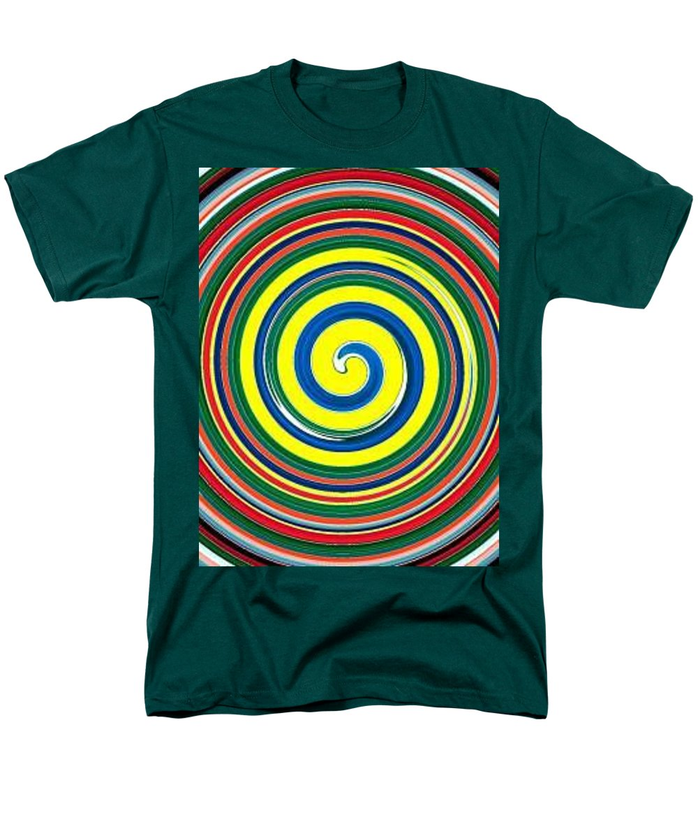 Digital Spiral Men's T-Shirt (Regular Fit) featuring the painting Abb1 by Andrew Johnson