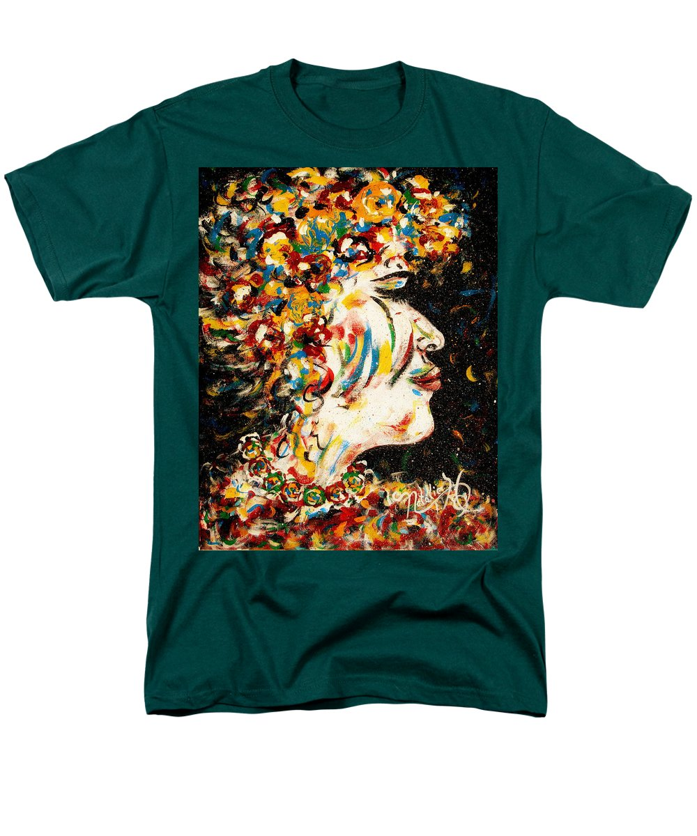 Woman Men's T-Shirt (Regular Fit) featuring the painting Absolutely Not by Natalie Holland