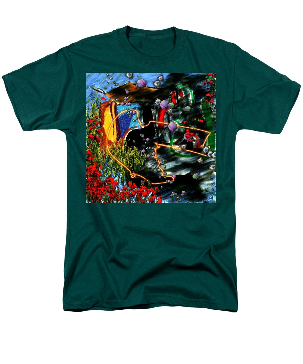 Ocean Water Deep Sea Nature Salad Men's T-Shirt (Regular Fit) featuring the digital art Aquatic salad by Veronica Jackson