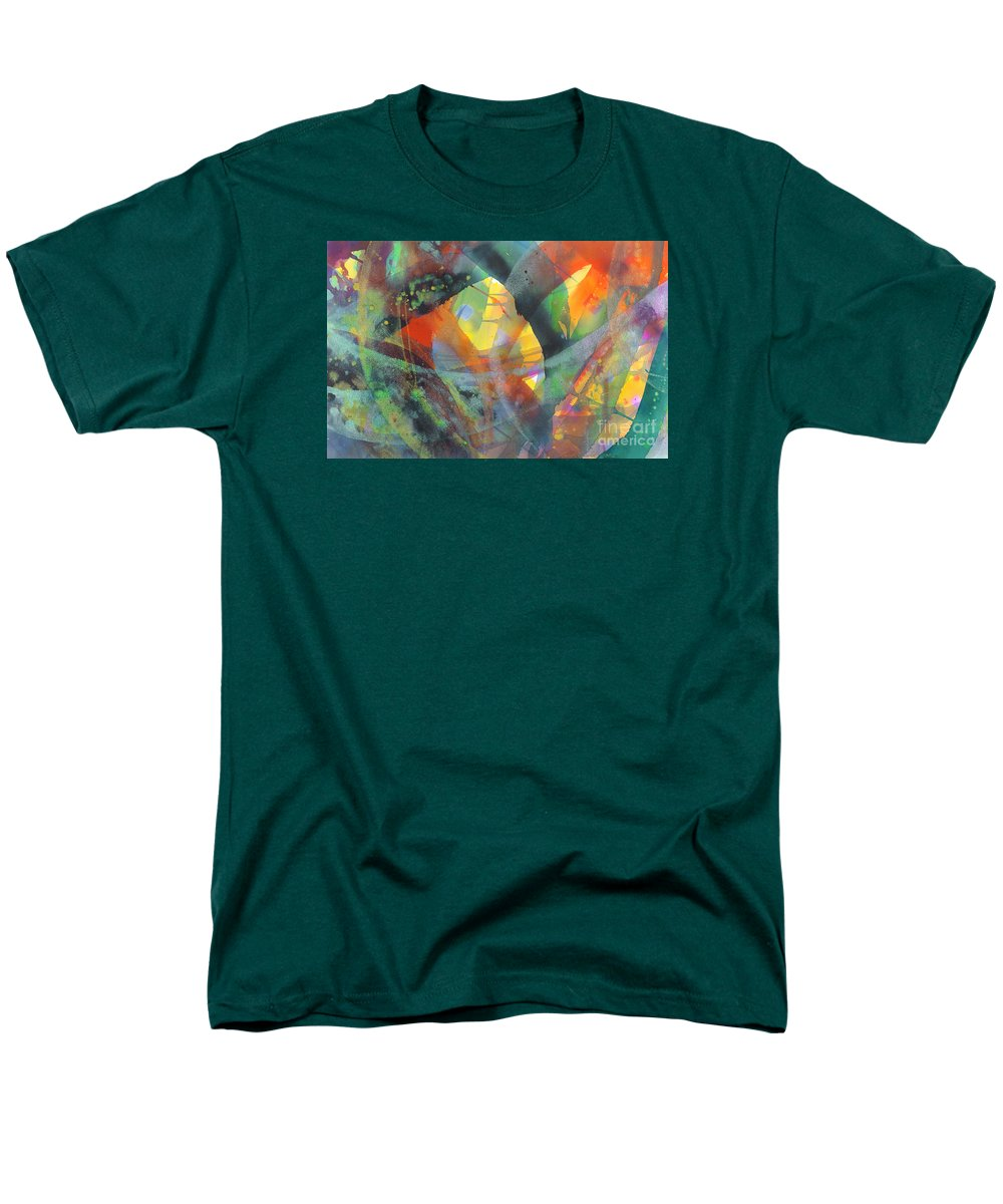Abstract Men's T-Shirt (Regular Fit) featuring the painting Connections by Lucy Arnold
