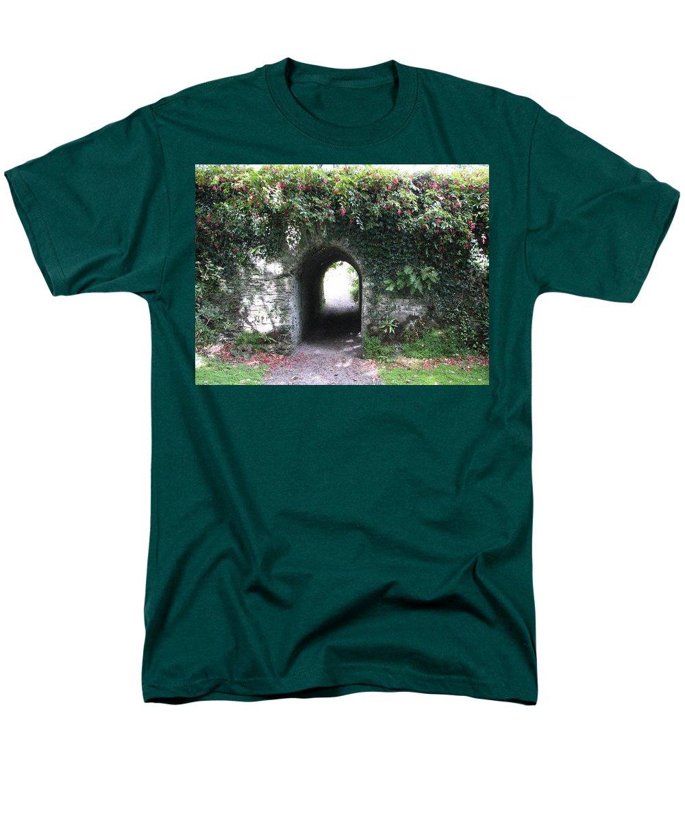 Derrynane Men's T-Shirt (Regular Fit) featuring the photograph Fairy Bridge by Kelly Mezzapelle
