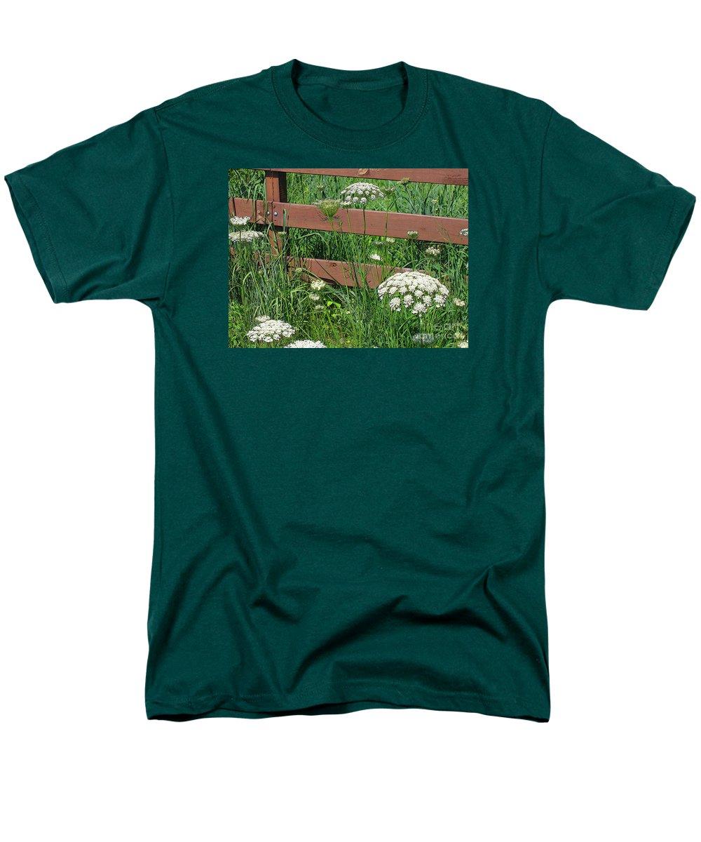 Flower Men's T-Shirt (Regular Fit) featuring the photograph Field of Lace by Ann Horn