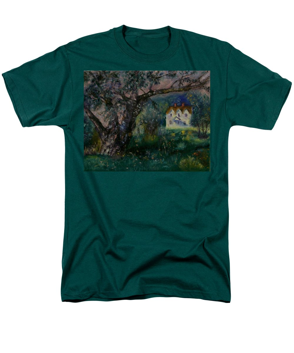 Landscape Men's T-Shirt (Regular Fit) featuring the painting Homestead by Stephen King