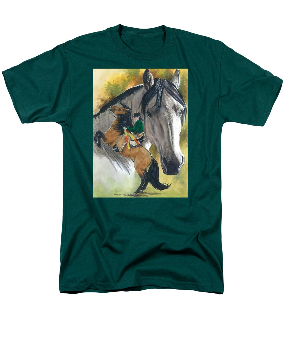 Horses Men's T-Shirt (Regular Fit) featuring the mixed media Lusitano by Barbara Keith