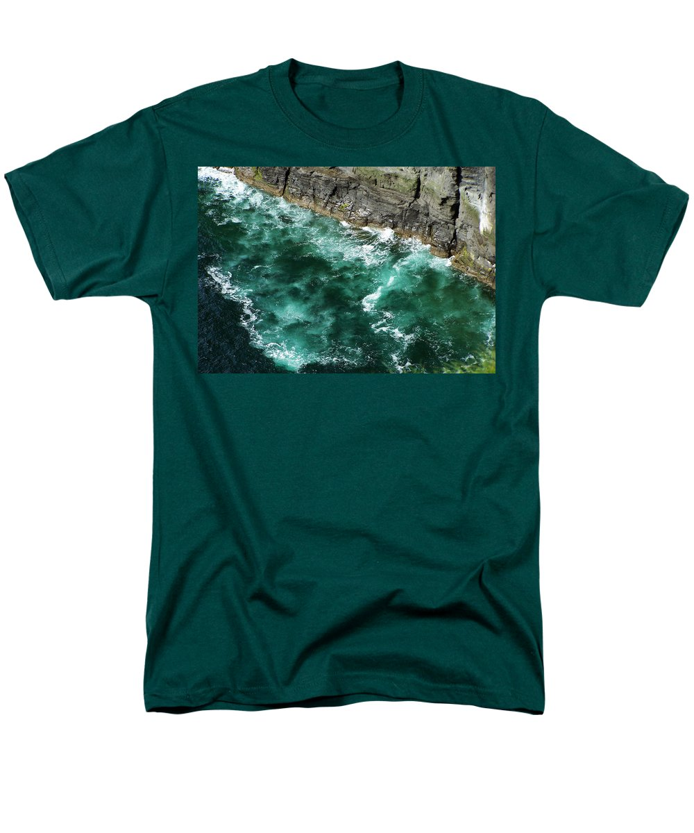 Irish Men's T-Shirt (Regular Fit) featuring the photograph Nowhere to Go Cliffs of Moher Ireland by Teresa Mucha