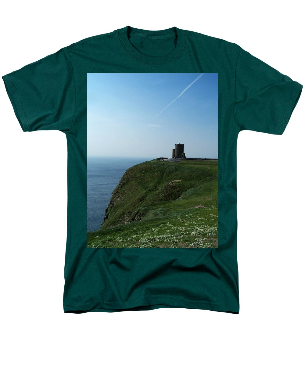 Irish Men's T-Shirt (Regular Fit) featuring the photograph O'Brien's Tower at the Cliffs of Moher Ireland by Teresa Mucha