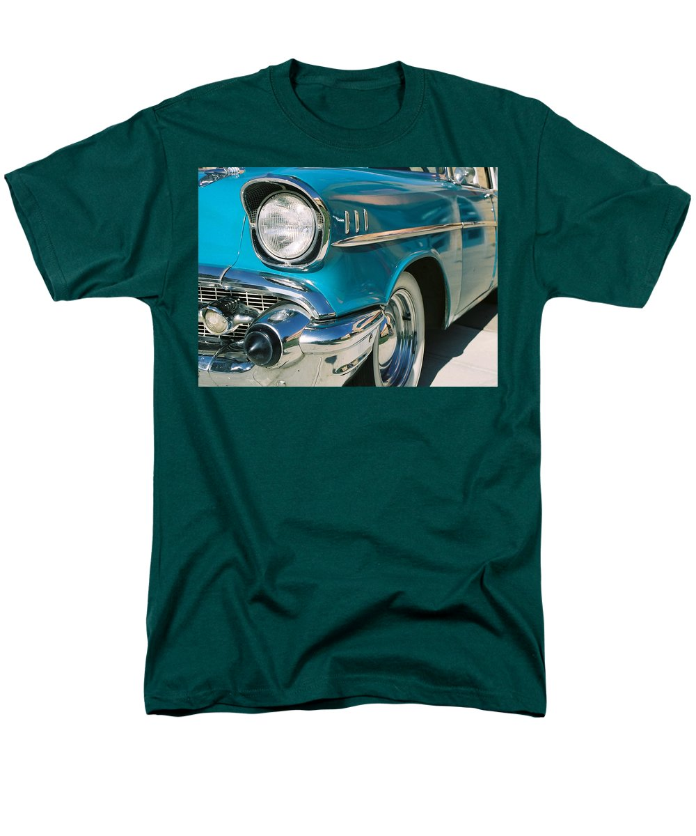 Chevy Men's T-Shirt (Regular Fit) featuring the photograph Old Chevy by Steve Karol