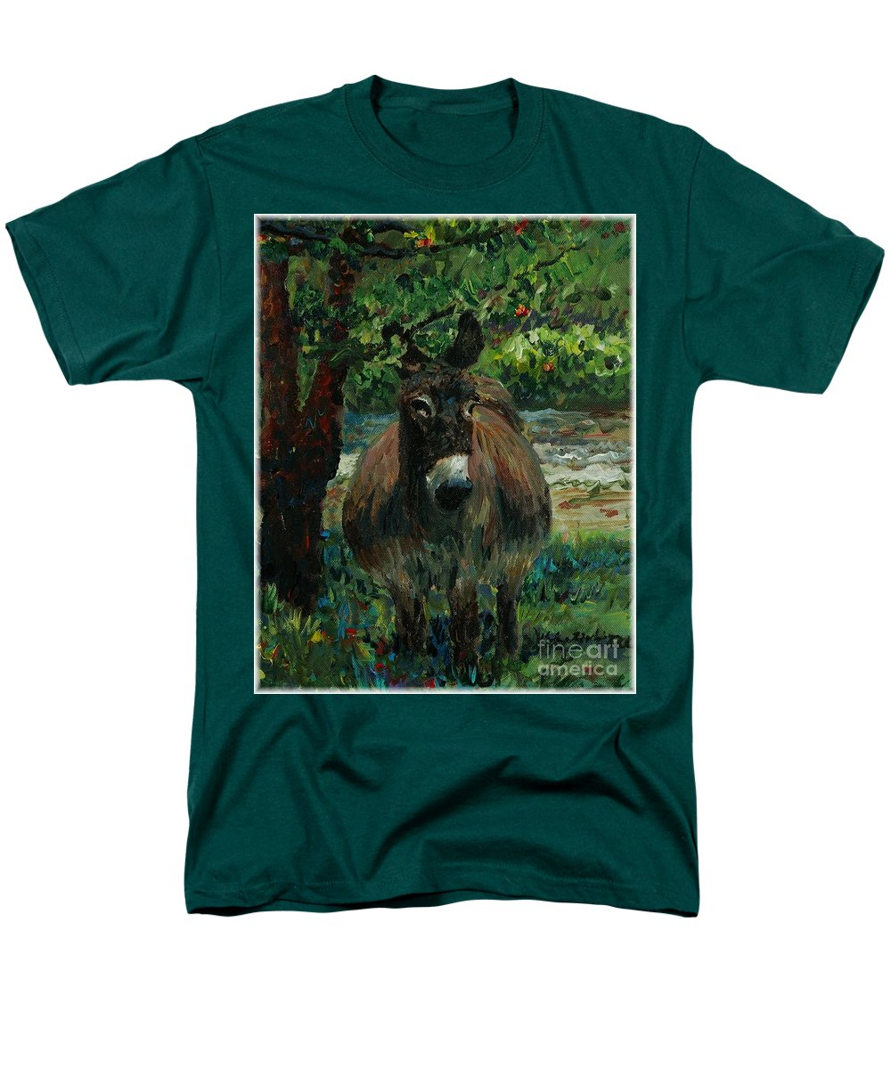 Donkey Men's T-Shirt (Regular Fit) featuring the painting Provence Donkey by Nadine Rippelmeyer