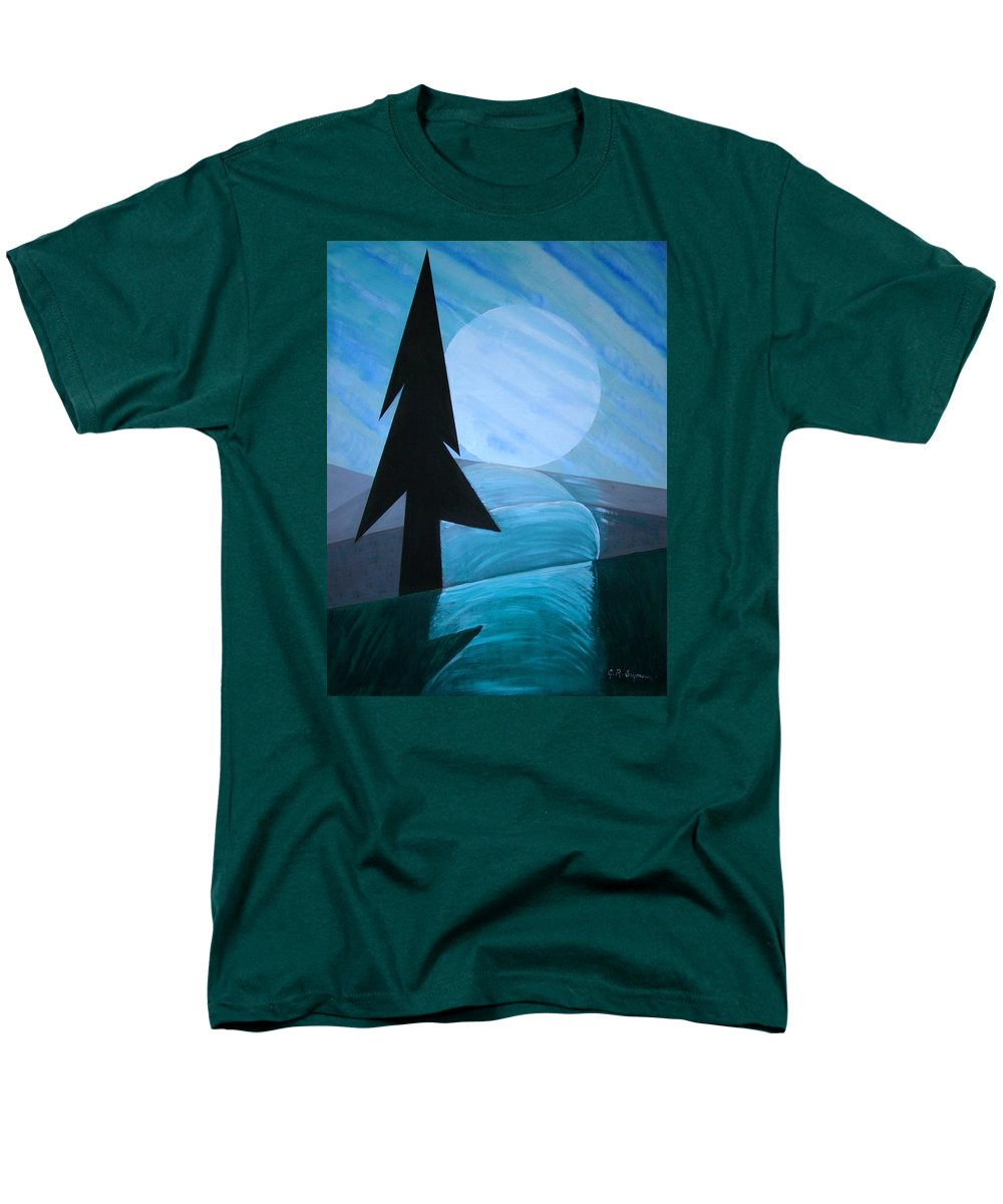 Phases Of The Moon Men's T-Shirt (Regular Fit) featuring the painting Reflections On The Day by J R Seymour