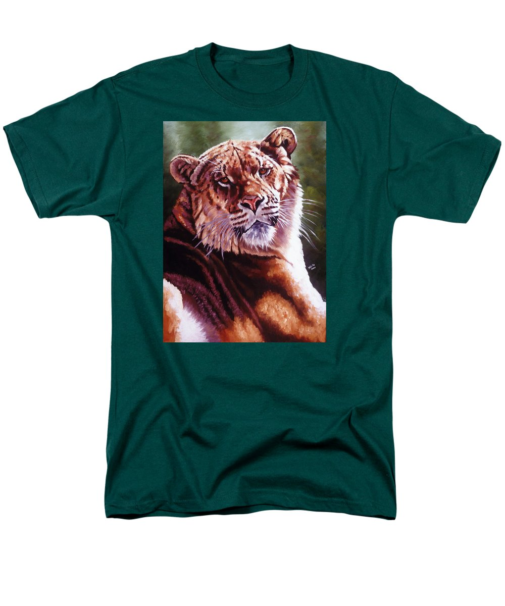 Hybrid Men's T-Shirt (Regular Fit) featuring the painting Sophie the Liger by Barbara Keith