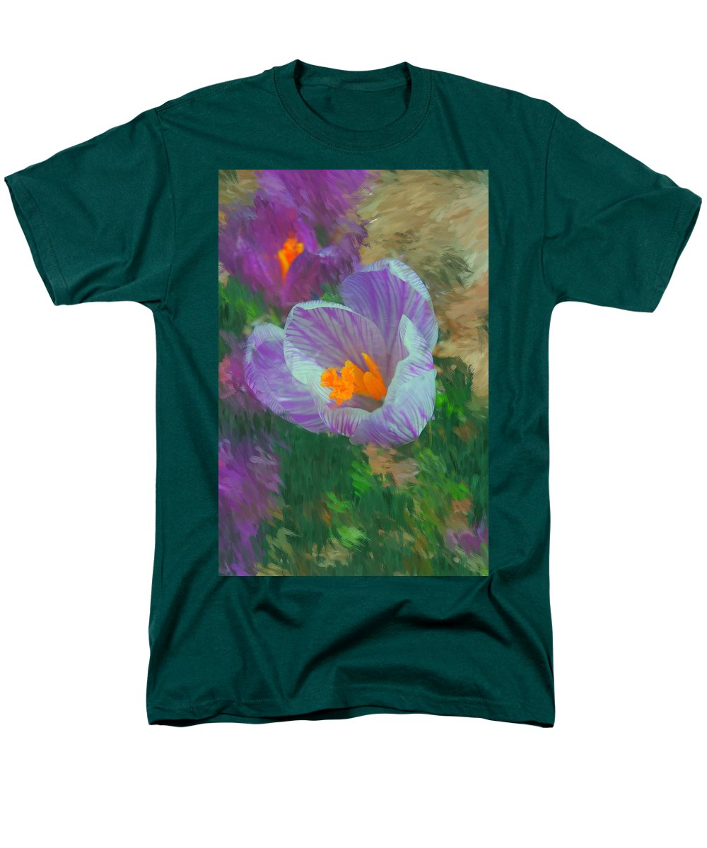 Digital Photography Men's T-Shirt (Regular Fit) featuring the digital art Spring has sprung by David Lane
