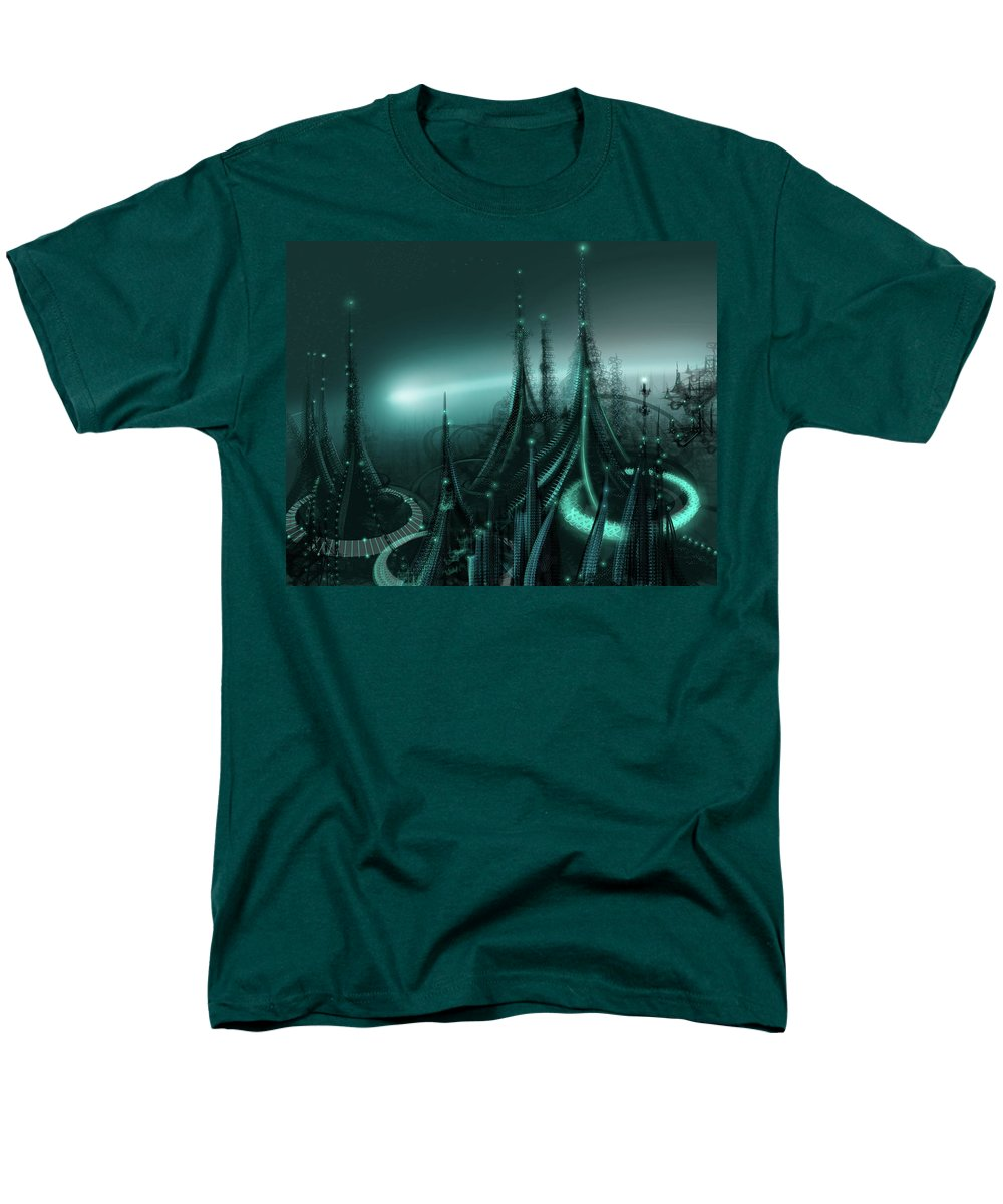 Cityscape Men's T-Shirt (Regular Fit) featuring the digital art Utopia by James Christopher Hill