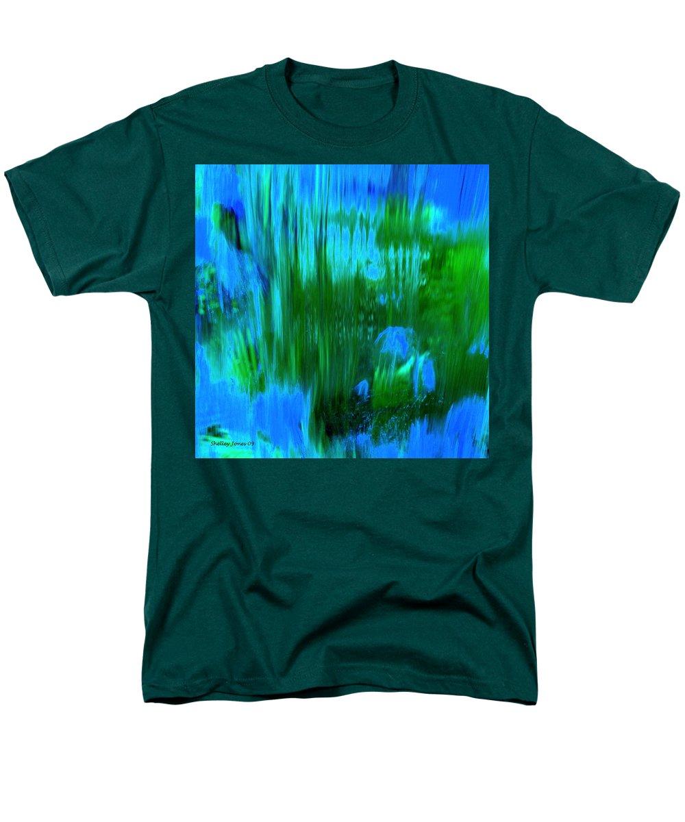Digital Art Men's T-Shirt (Regular Fit) featuring the digital art Waterfall by Shelley Jones