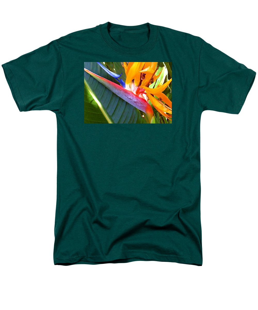Hawaii Greeting Cards Men's T-Shirt (Regular Fit) featuring the photograph Bird of Paradise by James Temple