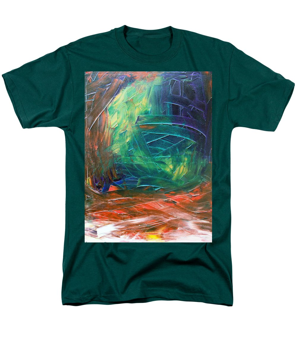 Painting Men's T-Shirt (Regular Fit) featuring the painting Forest.Part3 by Sergey Bezhinets