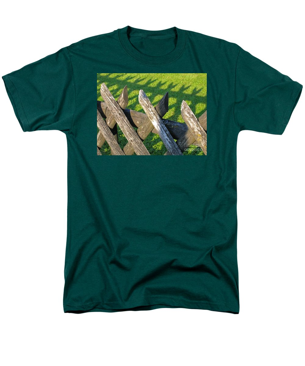 Fence Men's T-Shirt (Regular Fit) featuring the photograph Greener on the Other Side by Ann Horn